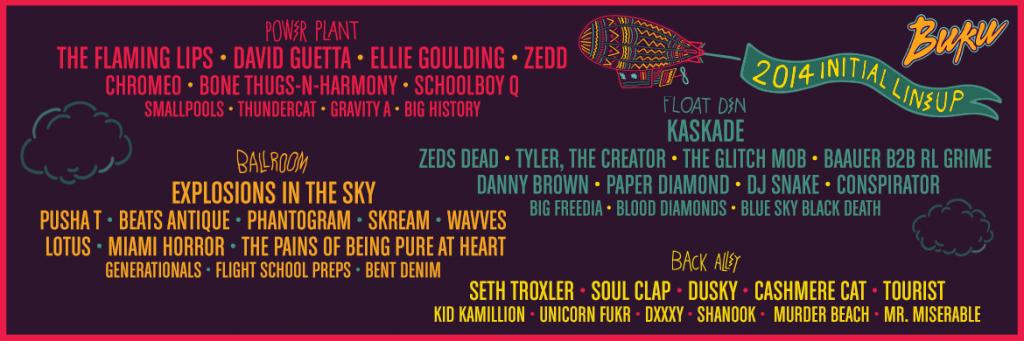 buku 2014 lineup