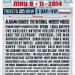 Shaky Knees 2014 Lineup
