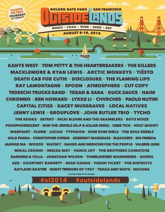 sf outside lands 2014 lineup