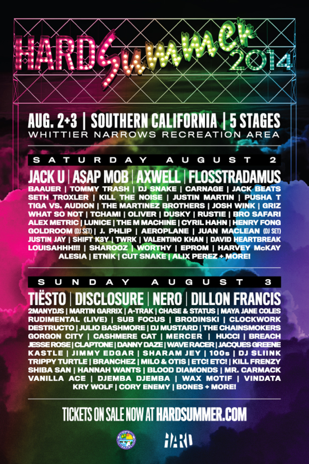 hard summer 2014 lineup announced