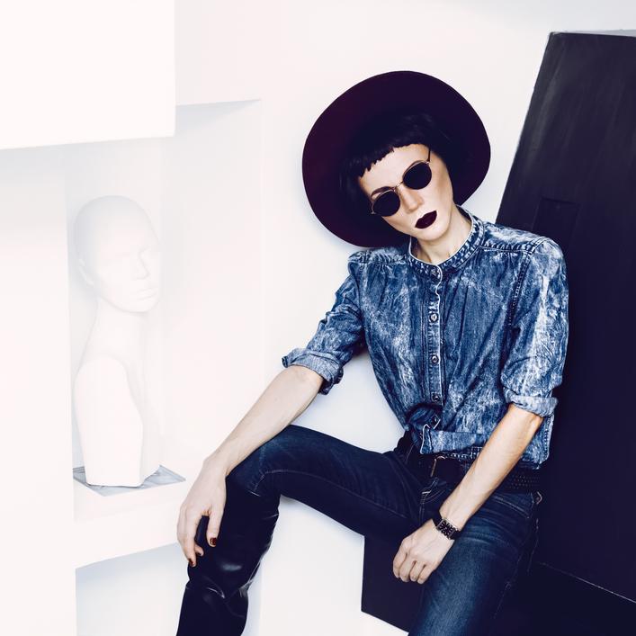 hipster girl fashion