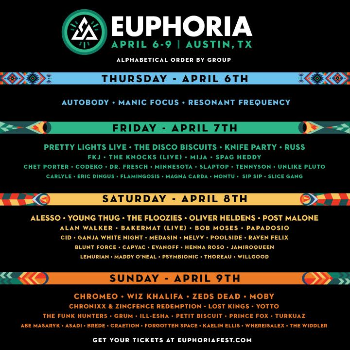 Euphoria Line-Up